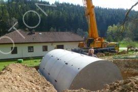 konstrukce vinného sklepa po dokončení montáže